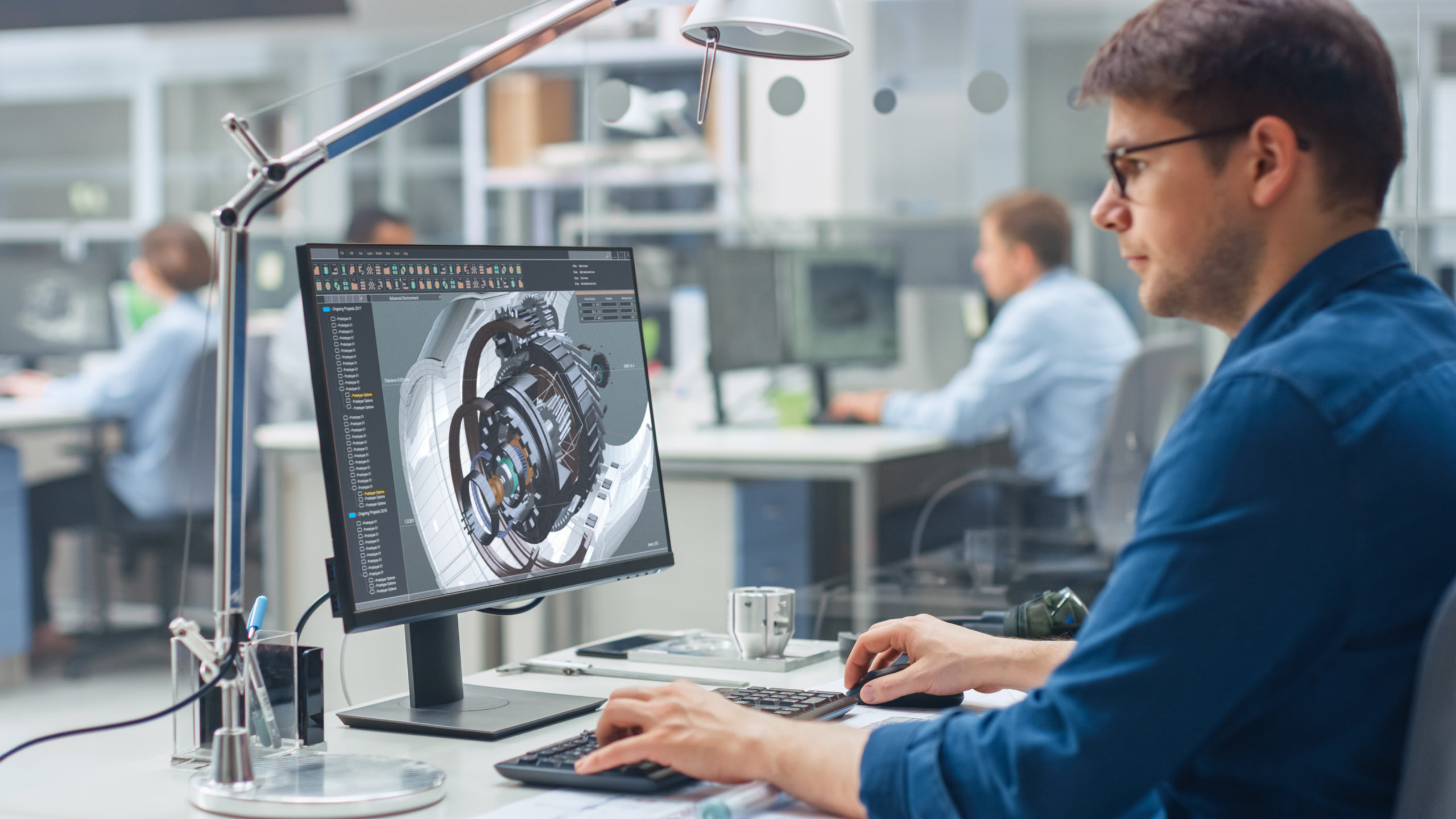Engineer working with CAD