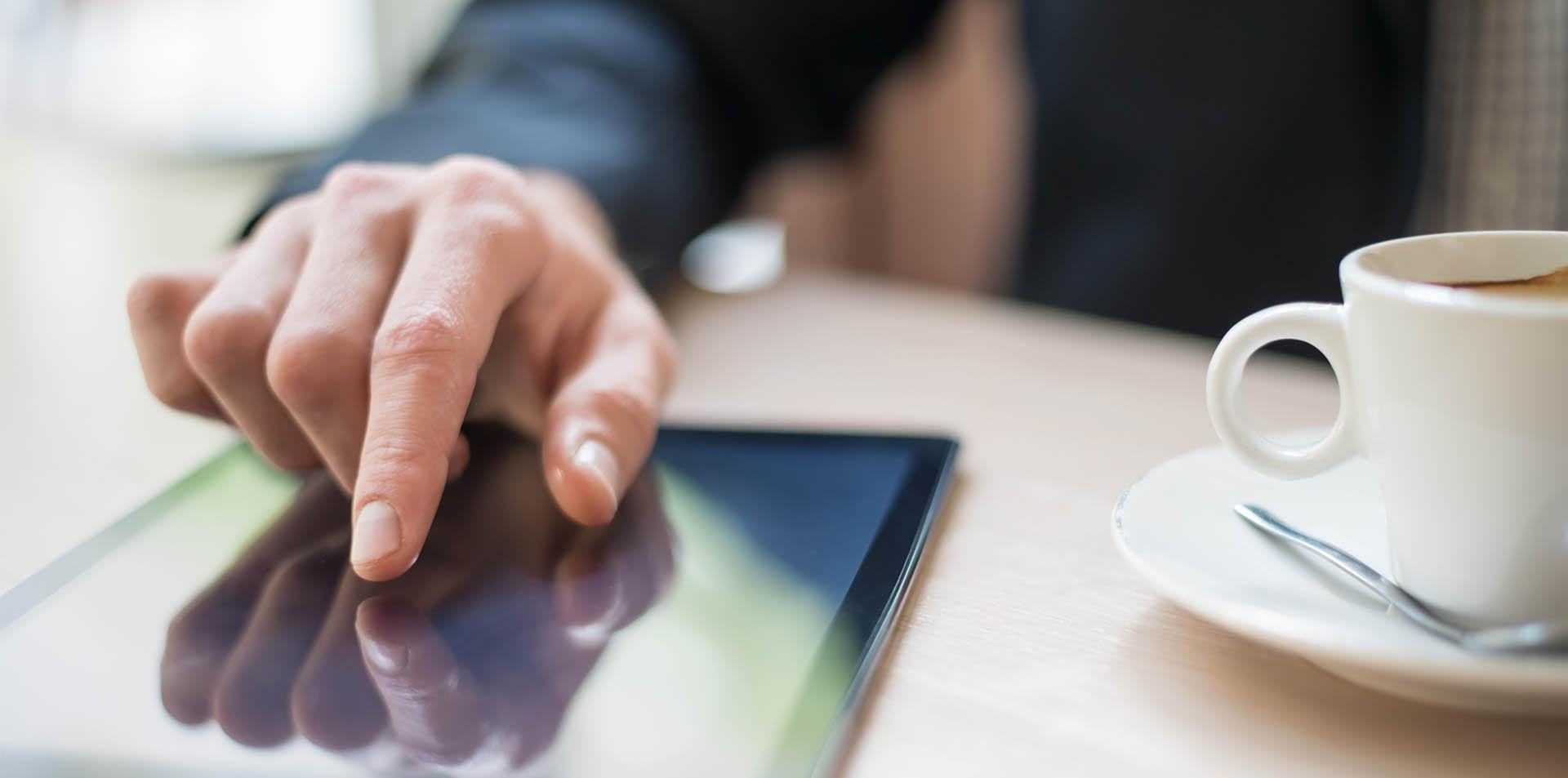 Webinar op tablet
