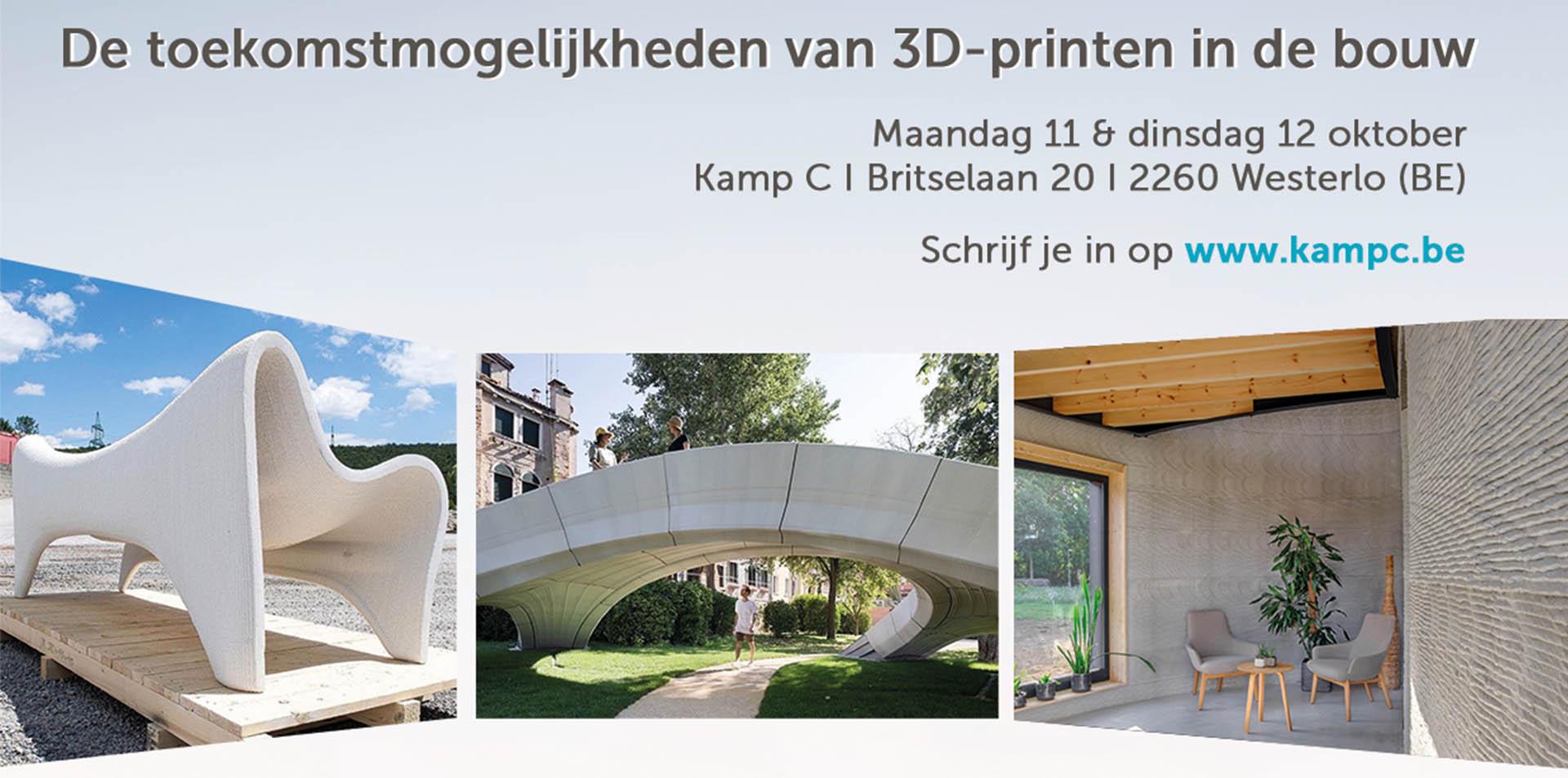 Kamp C: event 3D-printen in de bouw